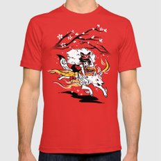Okaminoke MEDIUM Mens Fitted Tee Red