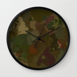 urban camouflage Wall Clock