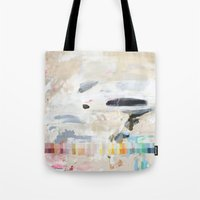 gradient Tote Bags featuring Gradient by CAROL HU