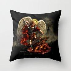 San Miguel Arcangel Throw Pillow