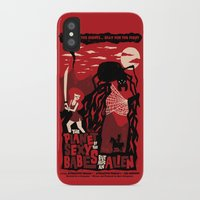 movie posters iPhone & iPod Cases featuring B-Movie by jublin