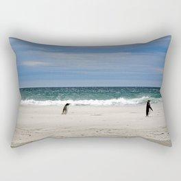 Penguins on the Beach Rectangular Pillow