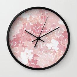 Blushing Petals Wall Clock
