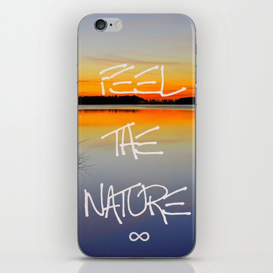 Feel the nature infinity ∞ iPhone & iPod Skin