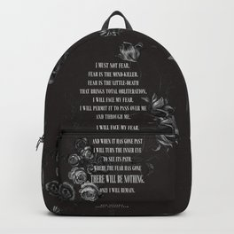 Bene Gesserit Litany Against Fear Backpack