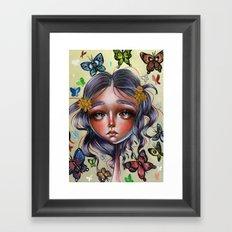 Chrysalis and Butterflies  Framed Art Print