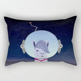 Unique Lama Astronaut Design Rectangular Pillow