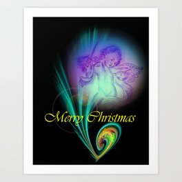 Magical Light and Energy - Merry Christmas Art Print