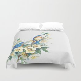 Floral Birds Duvet Cover