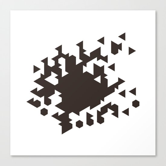 #386 Wild fire – Geometry Daily Canvas Print
