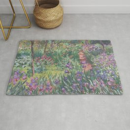 Monet's garden at Giverny Rug