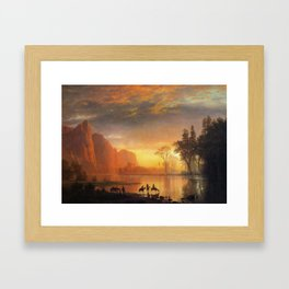 Yosemite Valley Sunset By Albert Bierstadt | Reproduction Painting Framed Art Print