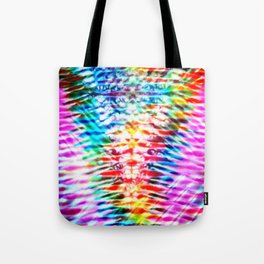 Crumpled Rainbow V Tie Dye Tote Bag