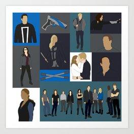 Agents of SHIELD - Minmalist Art Print