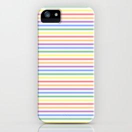Split Rainbow Mattress Ticking Narrow Stripes Pattern iPhone Case