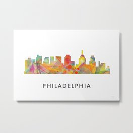 Philadelphia, Pennsylvania Skyline WB1 Metal Print