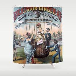 Excelsior Ginger Ale vintage kitsch poster art Shower Curtain