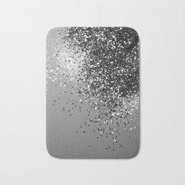 Sparkling Silver Gray Lady Glitter #1 #shiny #decor #art #society6 Bath Mat