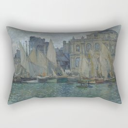 The Museum at Le Havre by Claude Monet Rectangular Pillow