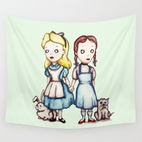 dorothy Wall Tapestries featuring Alice & Dorothy by Ludwig Van Bacon
