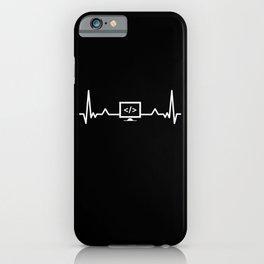 Programming Heartbeat Coding Developer iPhone Case
