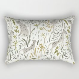 Grey Cheetahs Rectangular Pillow