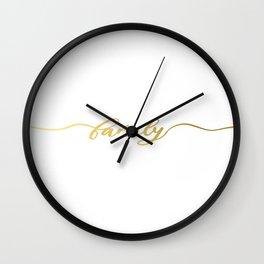 golden family Wall Clock