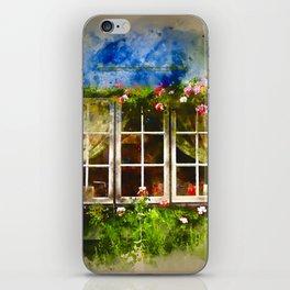 Floral Window Essex England iPhone Skin