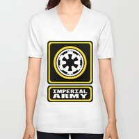 army V-neck T-shirts featuring Imperial Army by ubertwigg