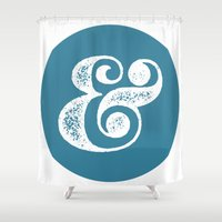 ampersand Shower Curtains featuring Ampersand by AndyGD