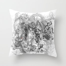 carré mystique Throw Pillow