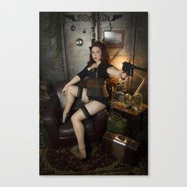 Dieselpunk Pin-up 2 Canvas Print