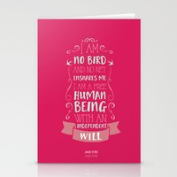 jane eyre Stationery Cards featuring Jane Eyre by Nikita Gill