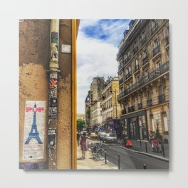 Paris Rue de Charonne Metal Print