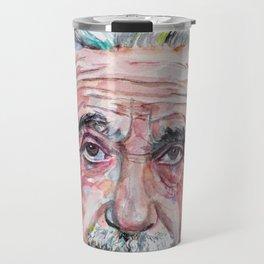 ALBERT EINSTEIN - watercolor portrait.4 Travel Mug