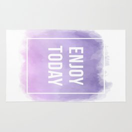 Enjoy Today Motivational Quote Rug