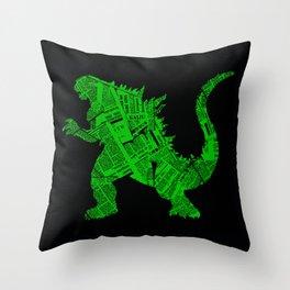 Japanese Monster - II Throw Pillow
