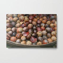 Muscat Nuts in Basket #food #society6 Metal Print