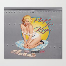 Playin for Keeps-Warbird Girls Canvas Print