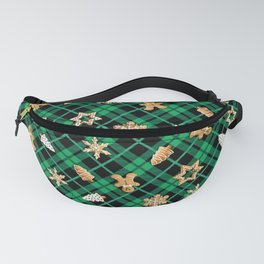 Gingerbread Green Fanny Pack