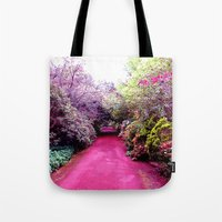 road Tote Bags featuring Road by haroulita
