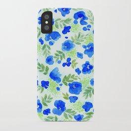 Floret (Blue) iPhone Case