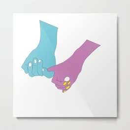 """OfLove - """"Touch"""" Metal Print"""