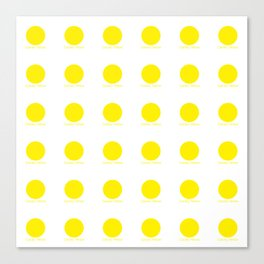 Canary Yellow Canvas Print