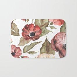 Circular Pink Florals Bath Mat