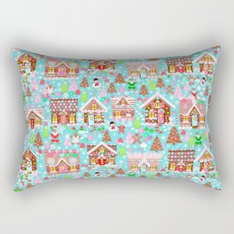 Gingerbread House Christmas Winter Candy, sweets.christmas gift, holiday gift for kids of all ages, Rectangular Pillow