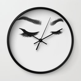 Lashes Wall Clock