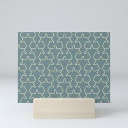 Aqua Green Geometric Tessellation Pattern 15V2 2021 Color of the Year Aegean Teal Salisbury Green Mini Art Print