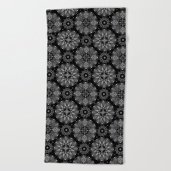 Black and white abstract pattern .14 Beach Towel