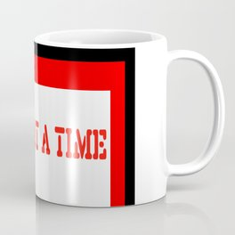One Day at a Time (red block) Coffee Mug